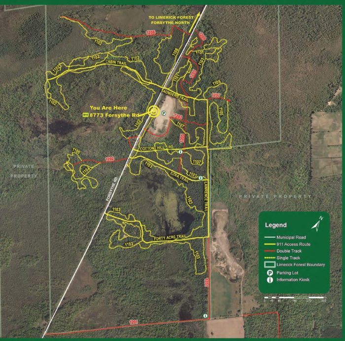 Forsythe south bike trails map