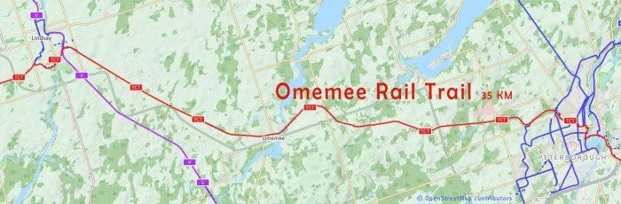 Omemee rail trail map