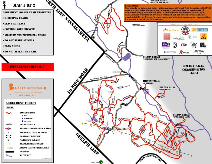 Agreement forest MTB trail map