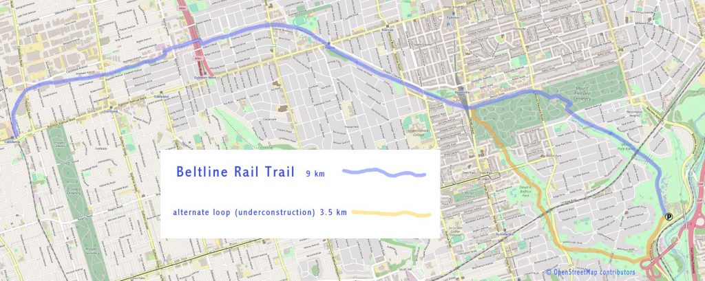 Beltline Rail Trail map