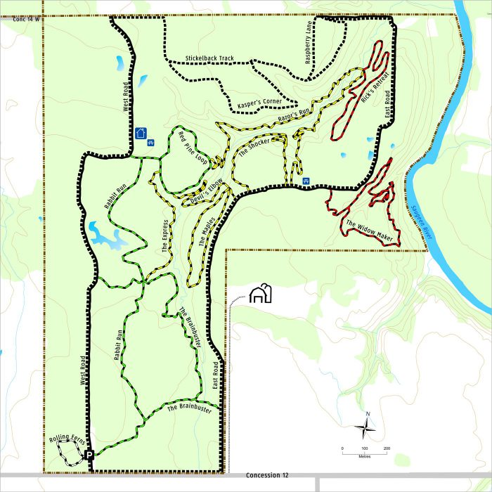 Brant MTB trail map