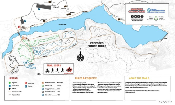 Christie Lake MTB trail map