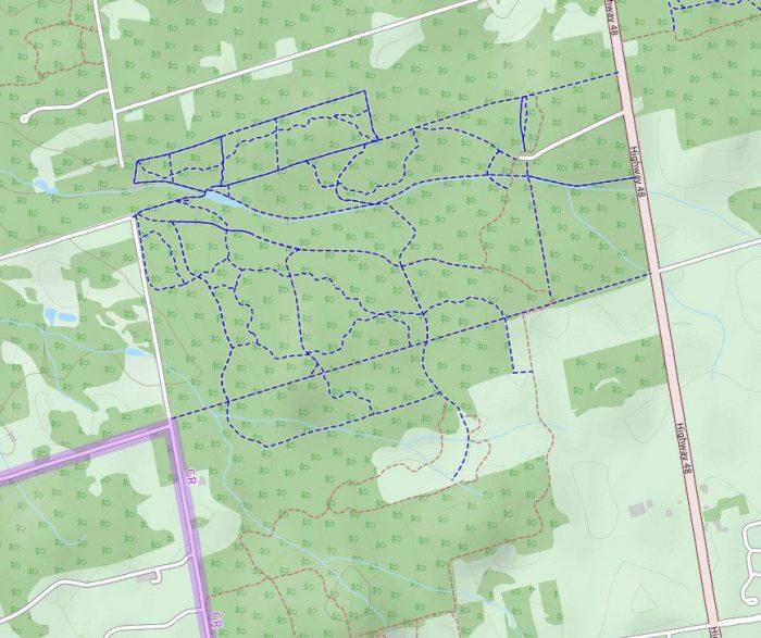 Eldrid King bike trail map