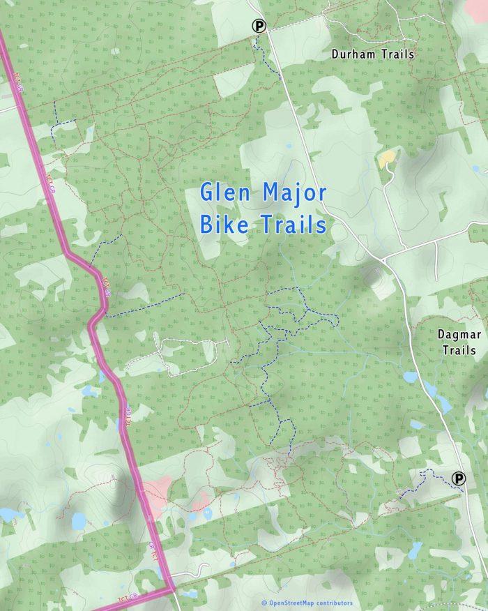 Glen Major bike trail map