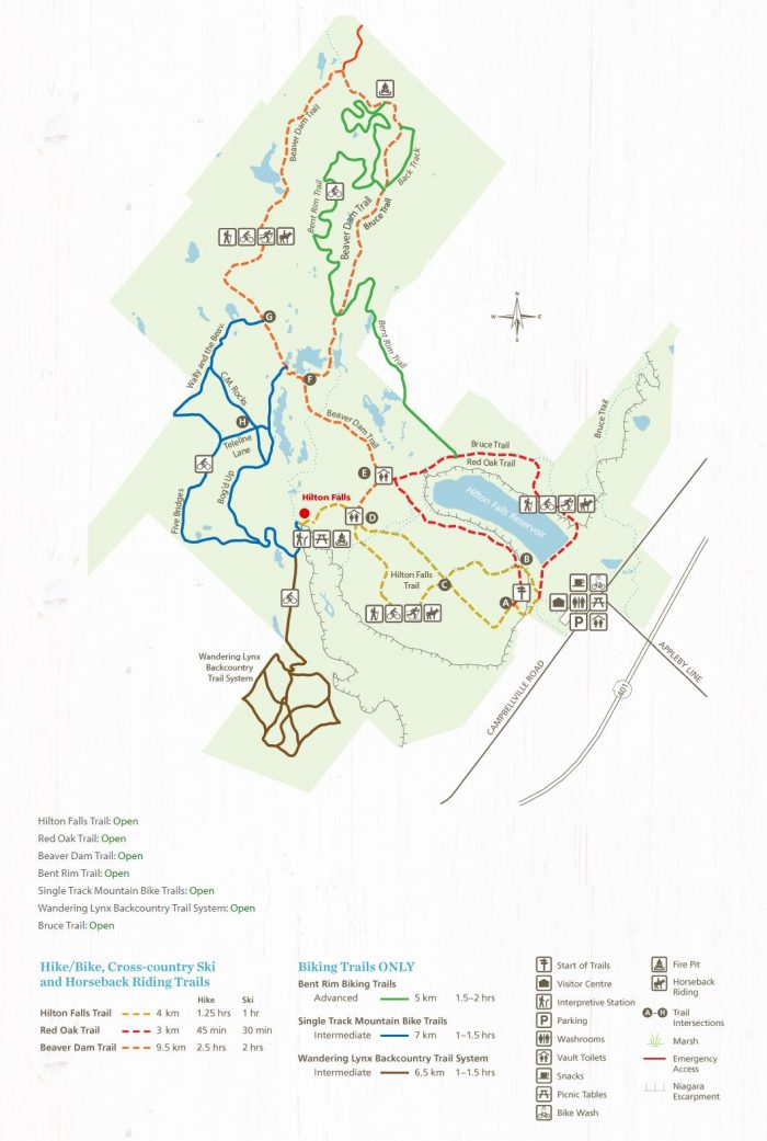 Hilton bike trail map