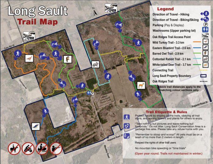 Long Sault bike trail map