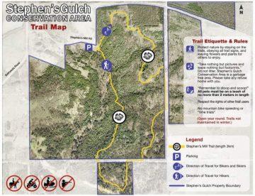 Stephens Gulch bike trail map