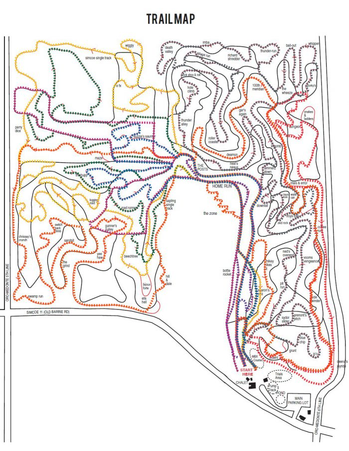 hardwood bike trails
