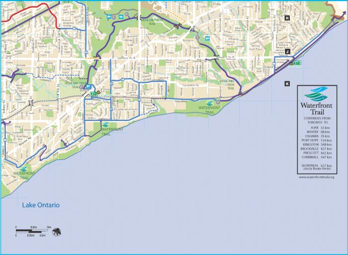 Highland Creek bike trail map