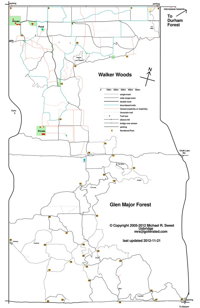 Glen Major trail - courtesy M. Sweet