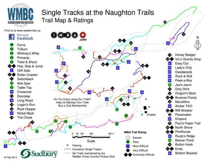 Naughton mtb trail map