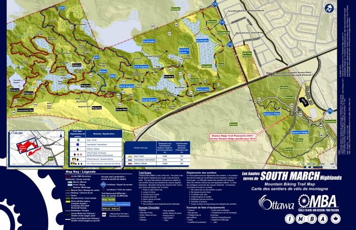 South March MTB trail map