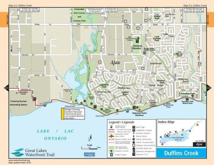 Ajax waterfront bike trail map