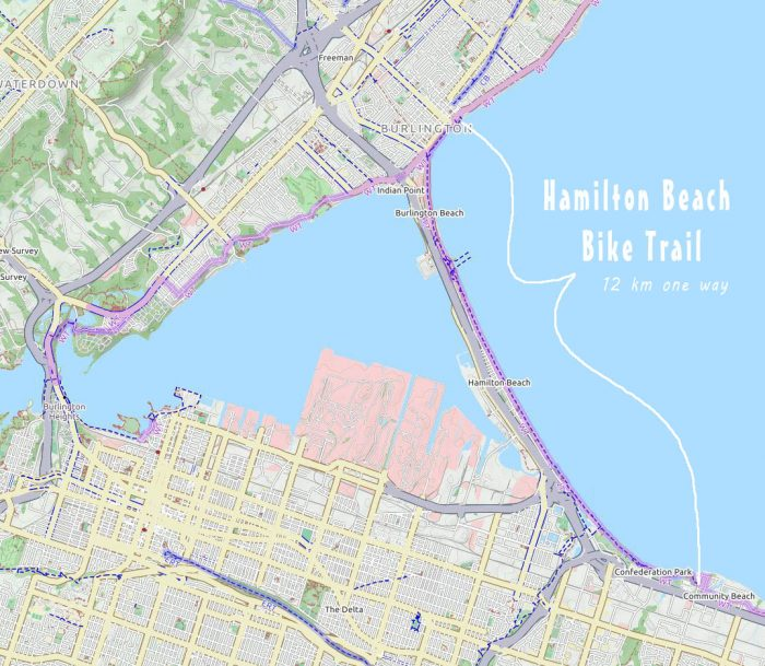 Hamilton Beach trail map
