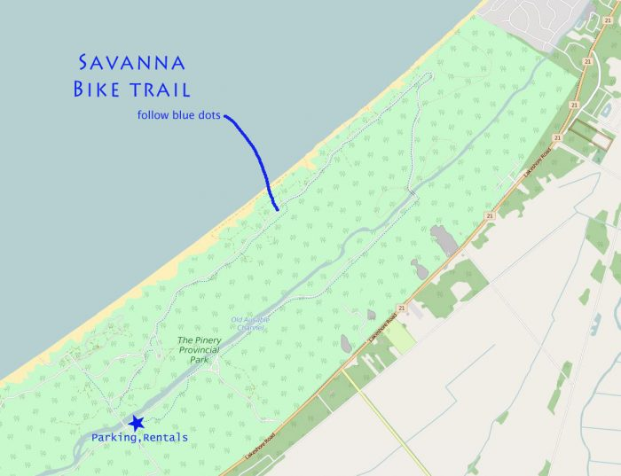 Pinery bike trail map