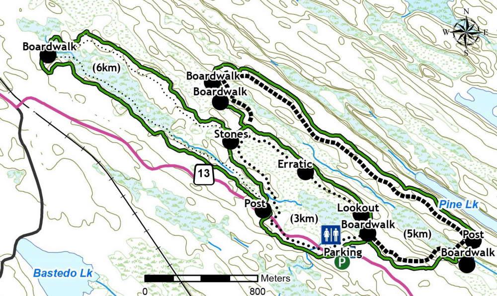 Torrance Barren trail map