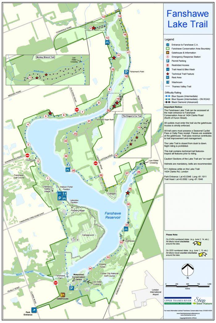 Fanshawe bike map