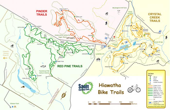 Hiawatha Bike Trail Map