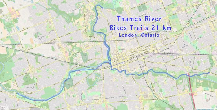 Thames bike park trails map