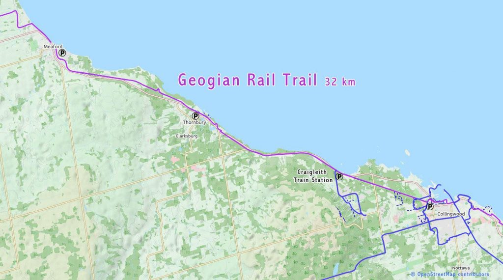 Georgian bike rail trail map