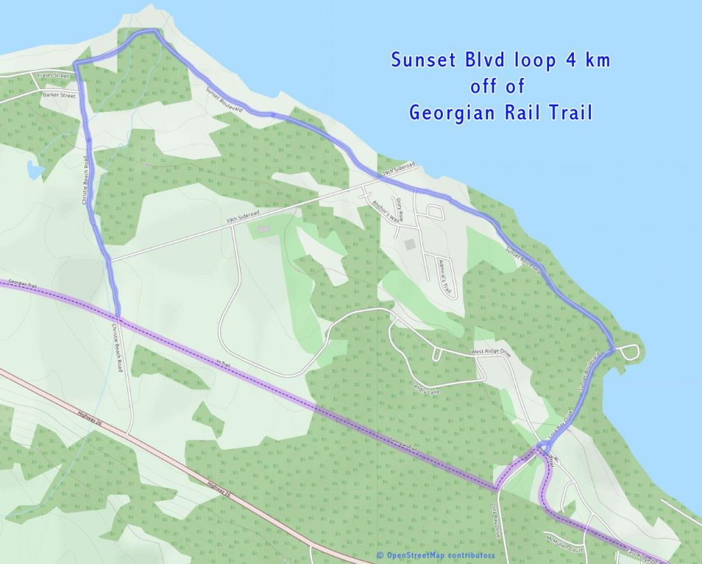 Sunset Blvd loop on Georgian trail