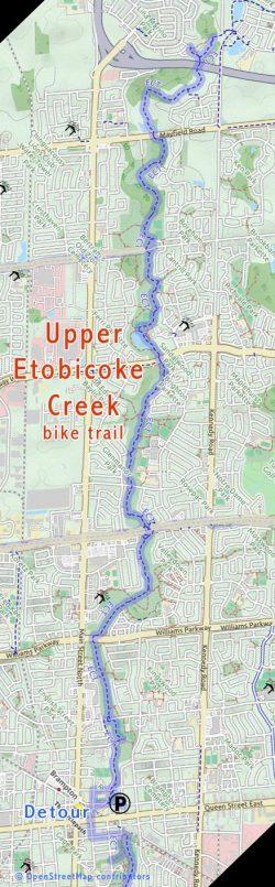 Upper Etobicoke Park Trail Ontario Bike Trails