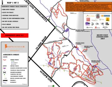 Agreemnet bike trail map