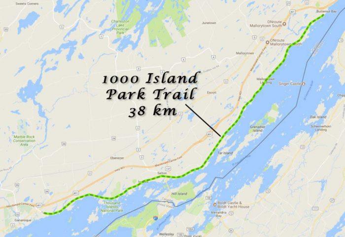 1000 Islands - Park Trail - Ontario Bike Trails