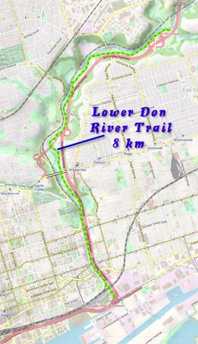 Lower Don - Park Trail - Ontario Bike Trails