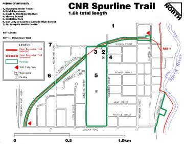 Spurline bike trail map