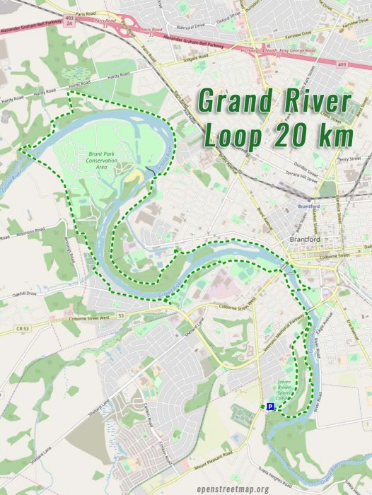 Grand-River-bike-trail-loop map