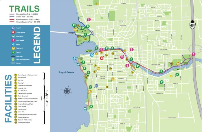 Belleville bike trail map