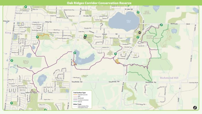 Oak Ridge bike path map