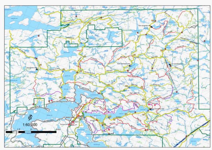 Haliburton MTB trail map