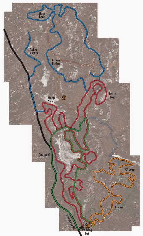 Forest Lea trail map
