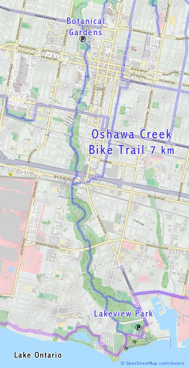 Oshawa bike trail map