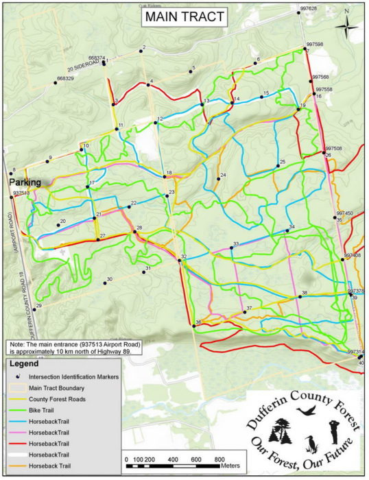Dufferin trail map