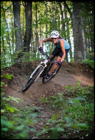 woman MTB riding