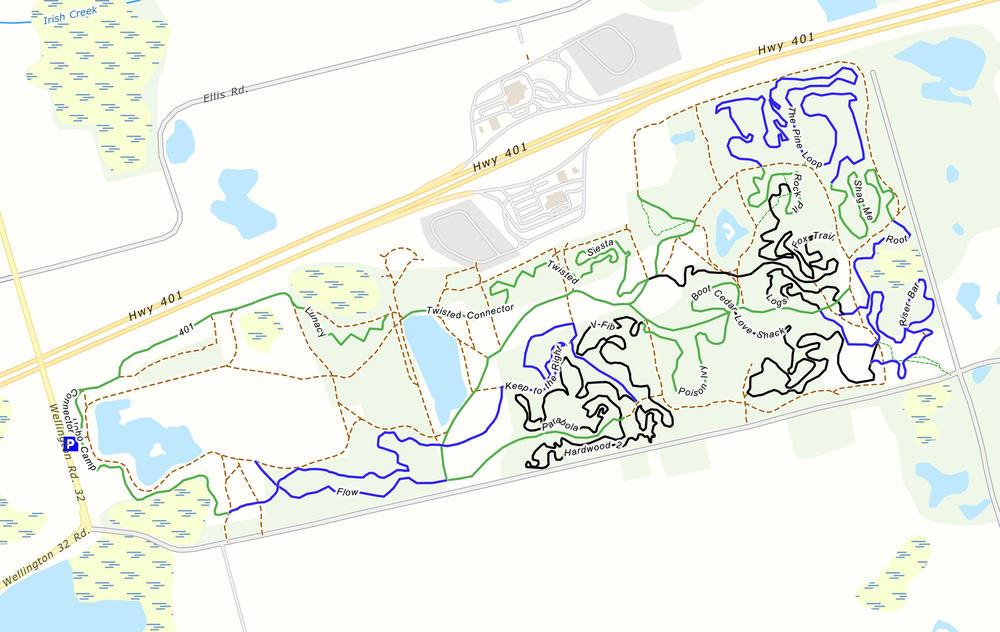 Puslinch MTB trail map