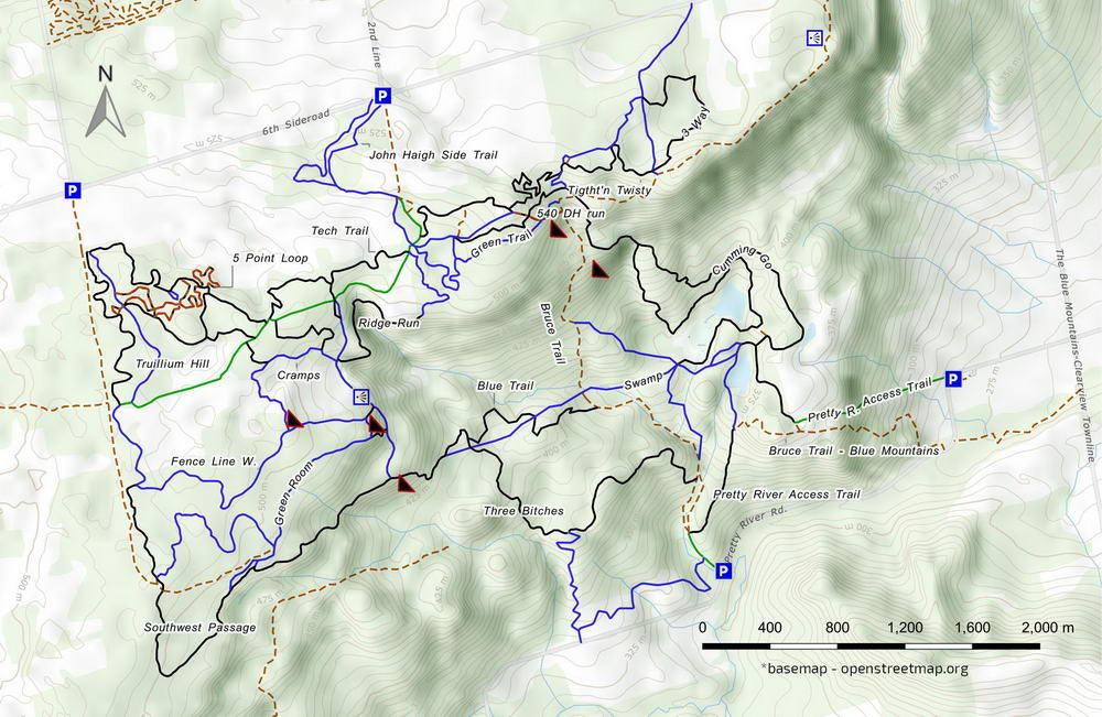 Three Stage MTB trail map
