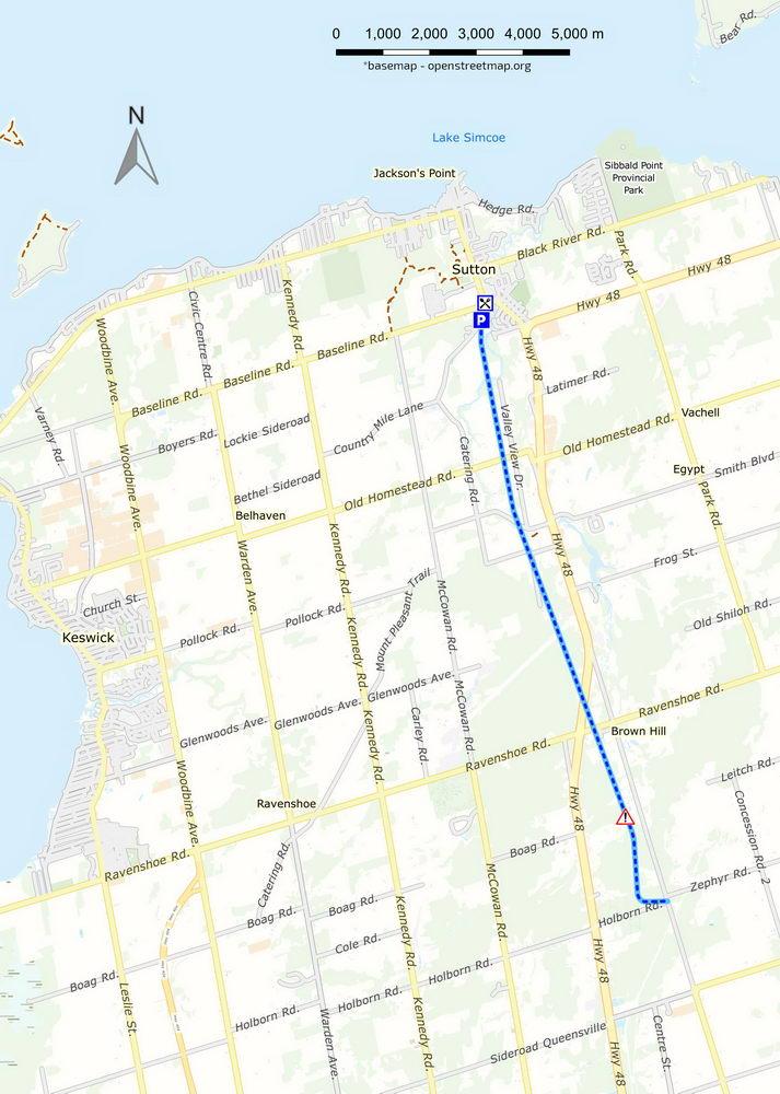 Sutton - Zephyr rail trail map